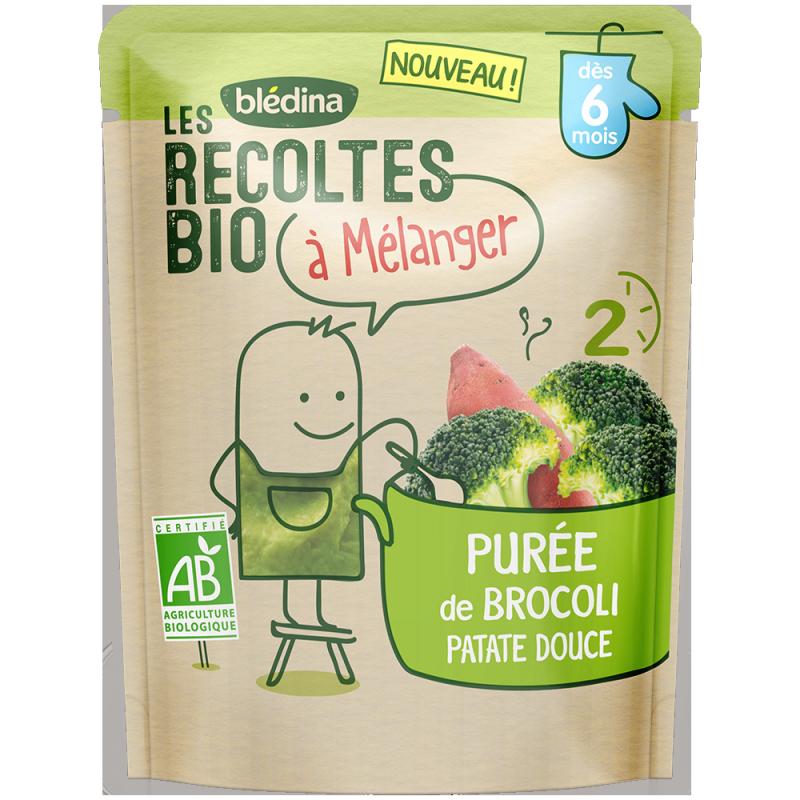 Les récoltes bio à mélanger Purée de Brocoli Patate Douce