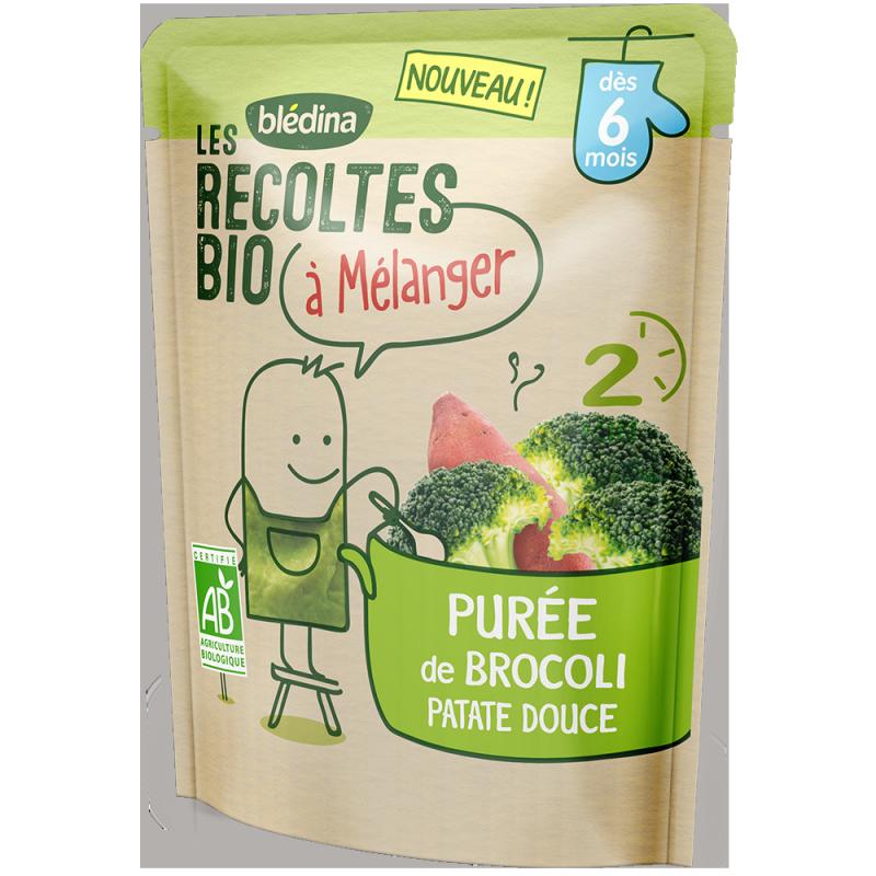 Purée de Brocoli Patate Douce Les récoltes bio à mélanger