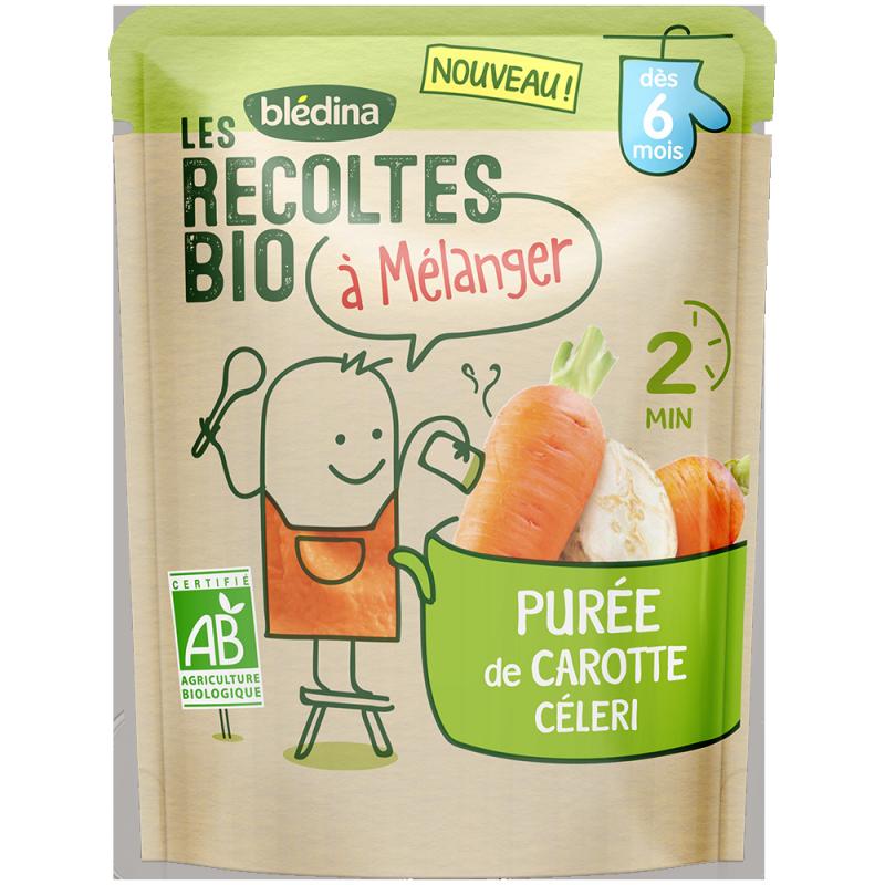 Les récoltes bio à mélanger Purée de Carotte & Céleri