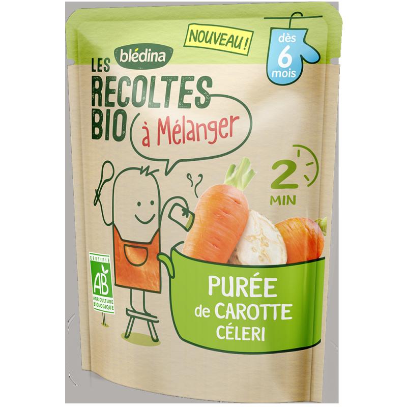 Purée de Carotte & Céleri Les récoltes bio à mélanger