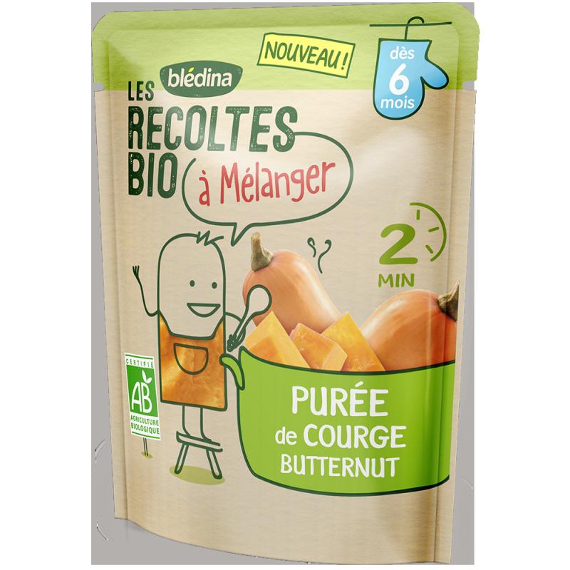 Purée de Courge Butternut Les récoltes bio à mélanger