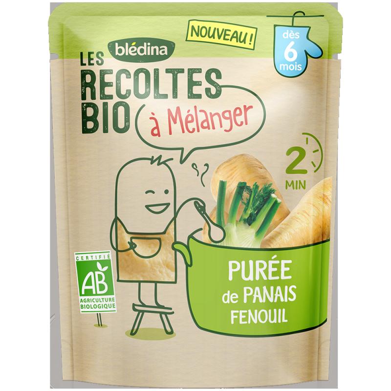 Les récoltes bio à mélanger Purée de Panais Fenouil