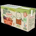 Les Récoltes Bio à mélanger Sauce de légumes aubergine tomate romarin