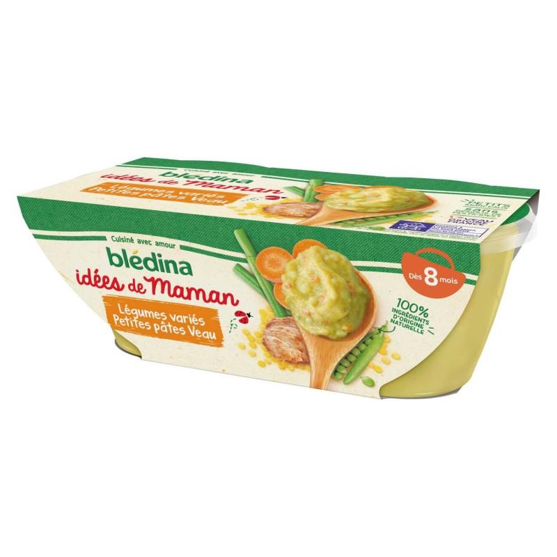 Idées de Maman Légumes variés petites Pâtes Veau - 2x200g