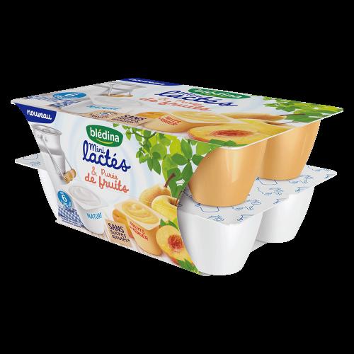 Pack Mini lactés Nature sans sucres ajoutés* et Purée de Fruits du Verger