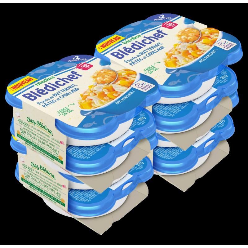 Pack Blédichef Etuvée de Butternut Pâtes Cabillaud