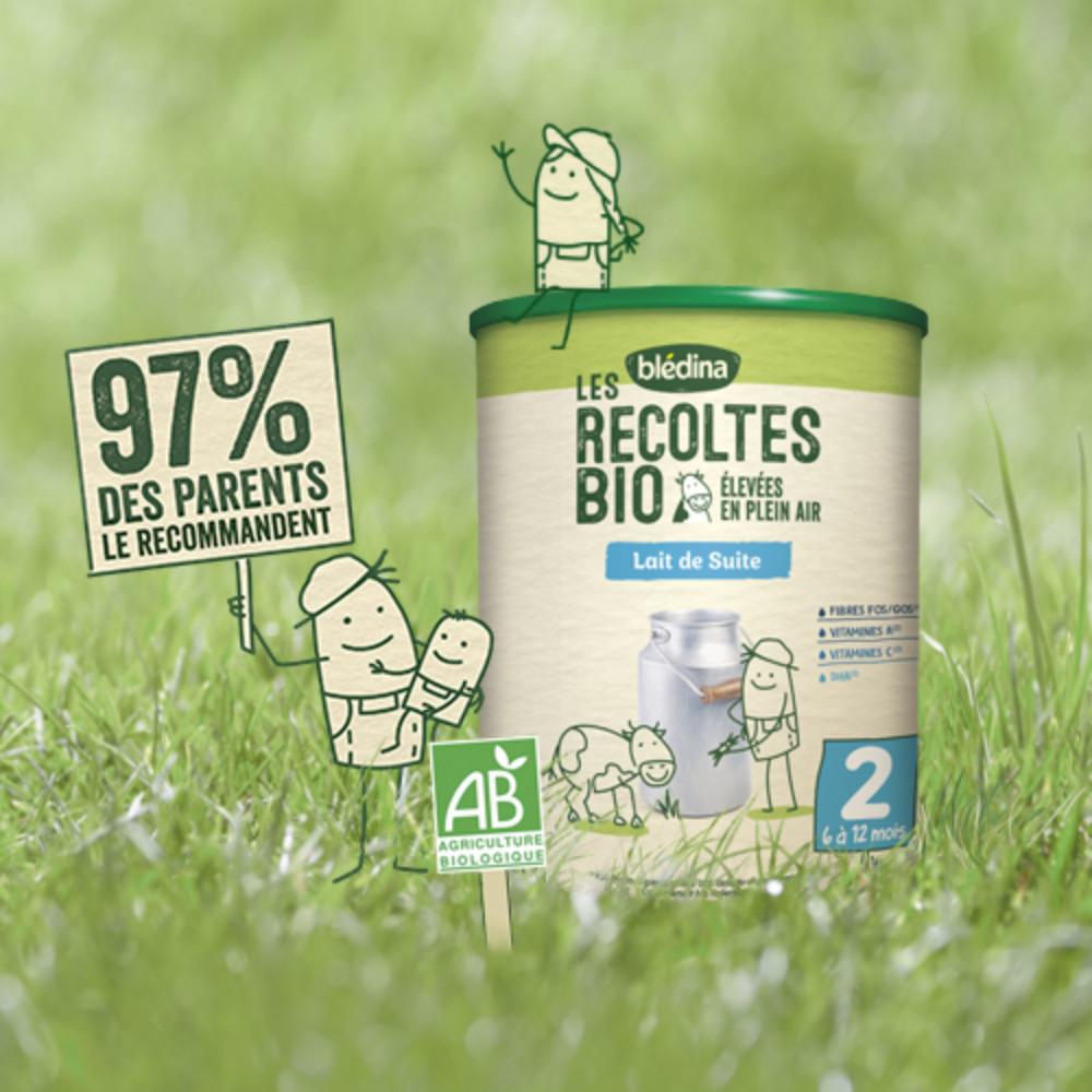 Blédina Les Récoltes Bio en poudre 2ème âge de 6 à 12 mois - 800 g