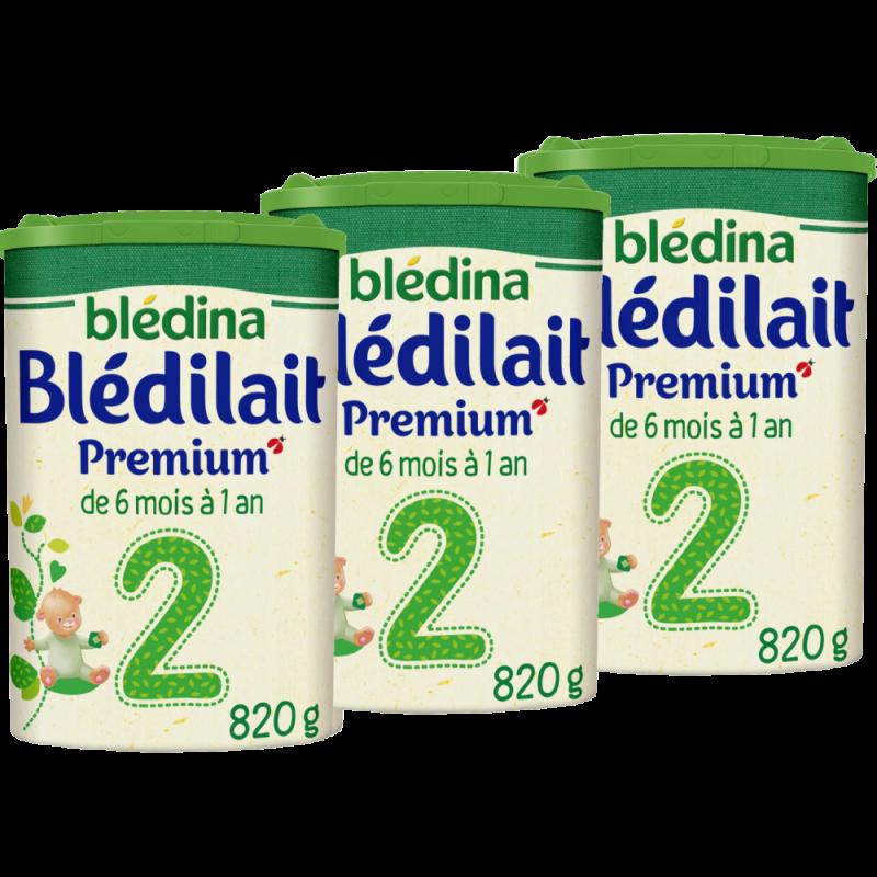 Lot Blédilait Premium 2 - Dès 6 Mois