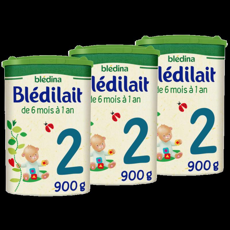 Pack Blédilait en poudre 2ème âge de 6 à 12 mois - 900 g