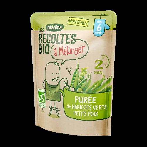 Pack Les récoltes bio à mélanger Purée de Haricots Verts & Petits Pois