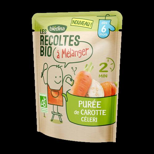 Pack Les récoltes bio à mélanger Purée de Carotte & Céleri