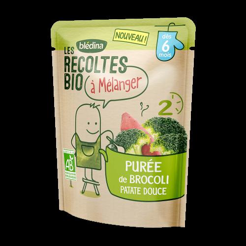 Pack Les récoltes bio à mélanger Purée de Brocoli Patate Douce