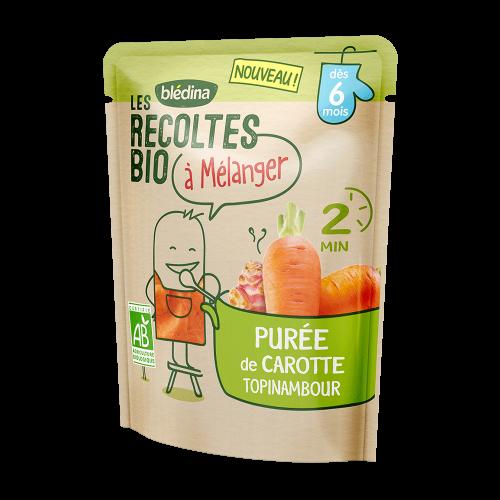 Pack Les récoltes bio à mélanger Purée de Carotte Topinambour