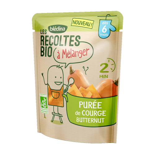 Pack Les récoltes bio à mélanger Purée de Courge Butternut