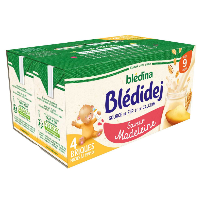 Blédidej Saveur Madeleine 4x250ml