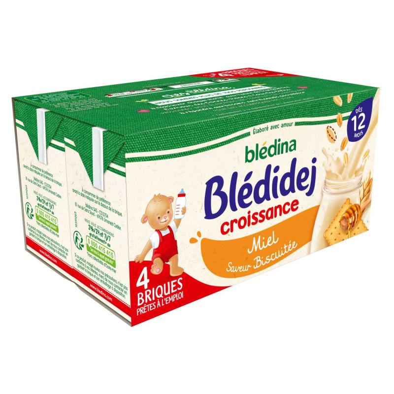 Blédidej Croissance Biscuité Miel 4x250ml