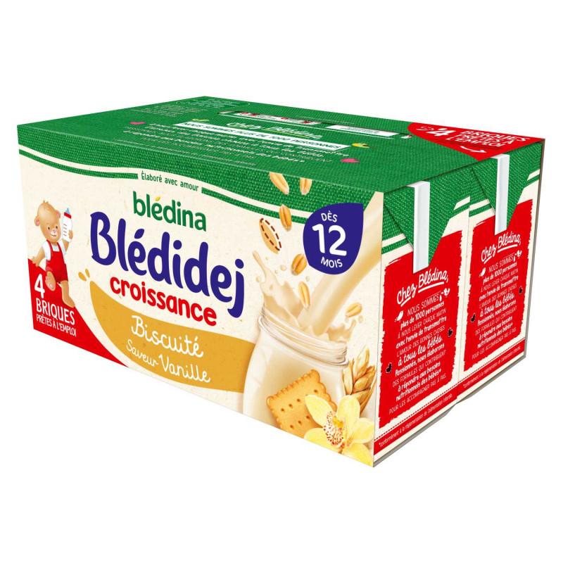 Blédidej Croissance Biscuité Saveur Vanille 4x250ml