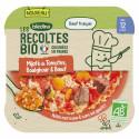 Les Récoltes Bio - Petit plat Bio - Mijoté de Tomates, Boulghour et Bœuf - 230g