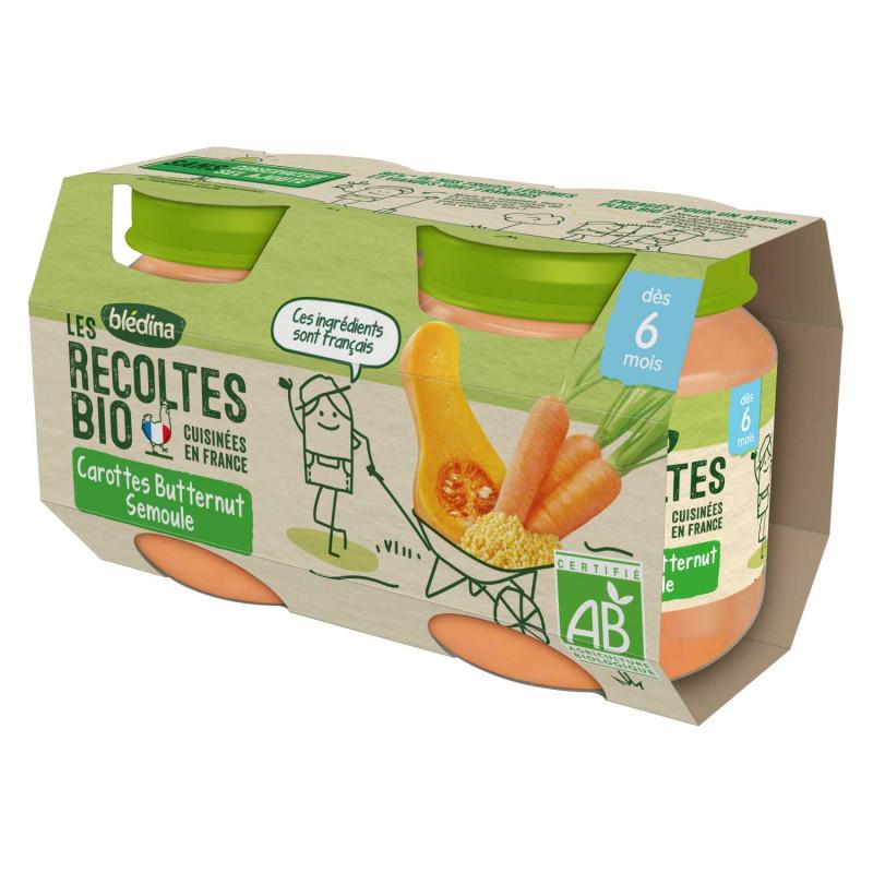 Les récoltes Bio Carottes Butternut Semoule - 2x130g