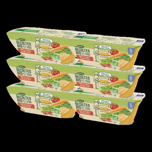Pack Bio Mijoté Légumes Boulghour Boeuf