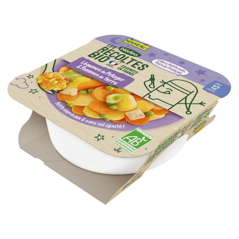 Les Récoltes Bio - Petit plat Bio - Légumes du potager et Pommes de terre - 230g