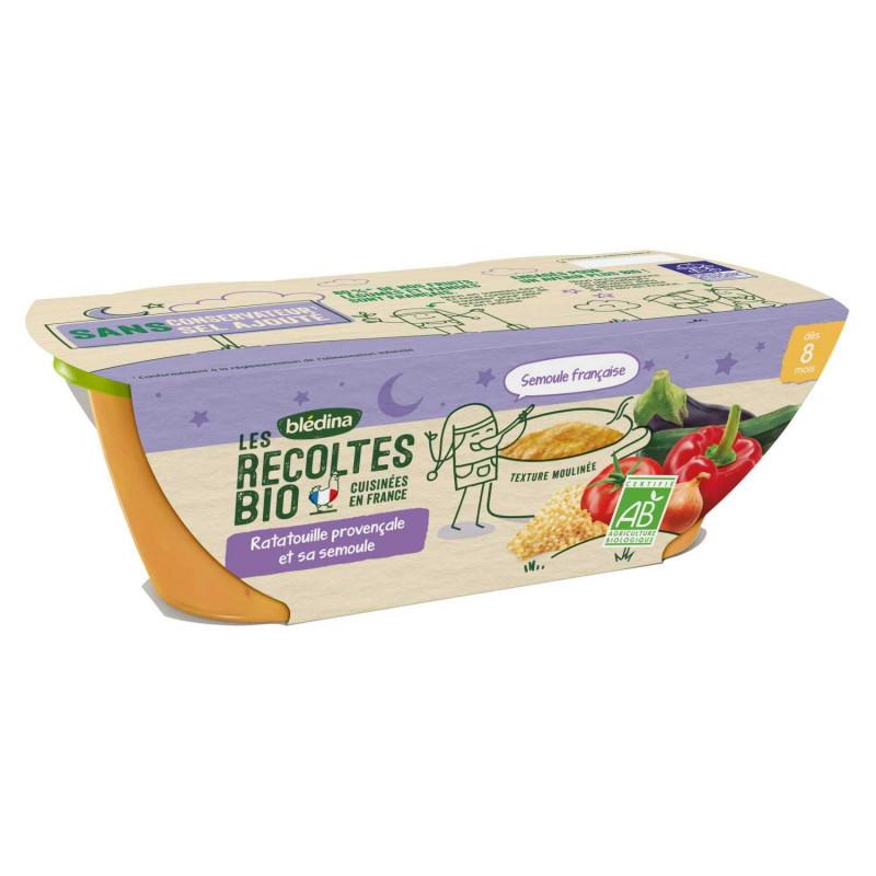 Les récoltes Bio Ratatouille de légumes - 2x200g