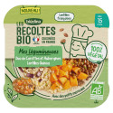 Les Récoltes Bio - Petit plat Bio - Duo de carottes, aubergines, quinoa lentilles - 250g