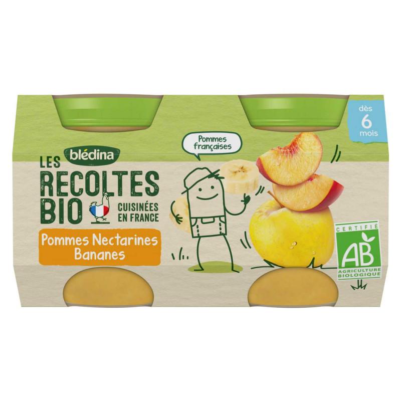 Les récoltes Bio - Pommes Nectarines Bananes - 2x130g