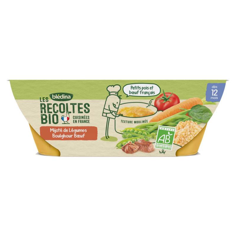 Les Récoltes Bio Mijoté de Légumes Boulghour Bœuf