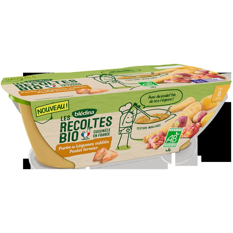 Les Récoltes Bio Purée de légumes oubliés poulet fermier