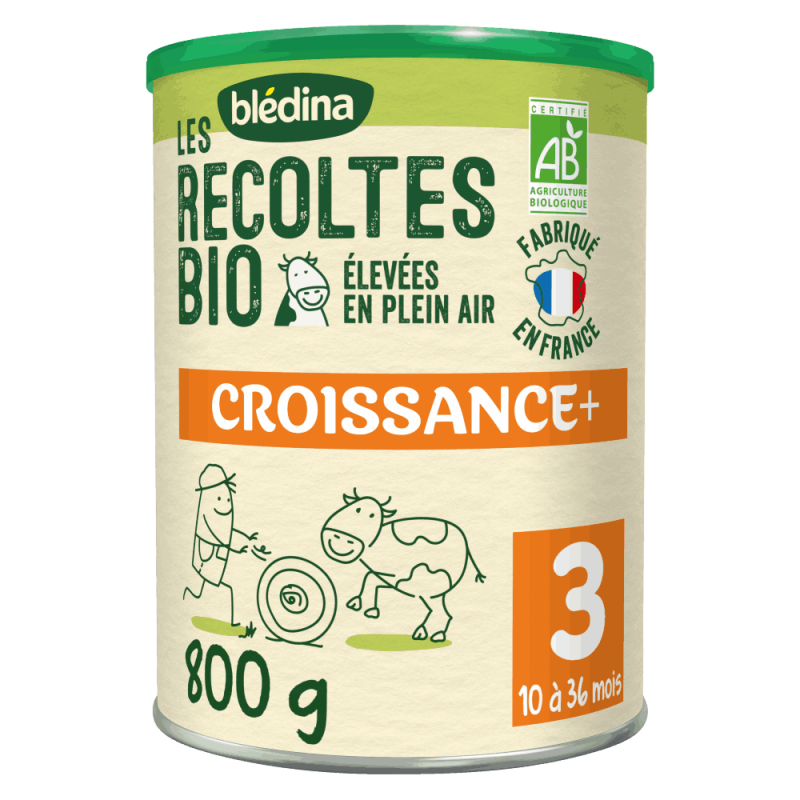 Blédina Les Récoltes Bio Croissance en poudre à partir de 10 mois - 800g