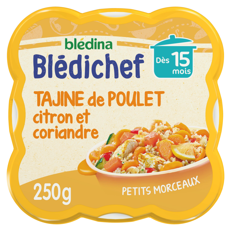 Blédichef - Tajine de Poulet, Citron et Touche de Coriandre - 250g