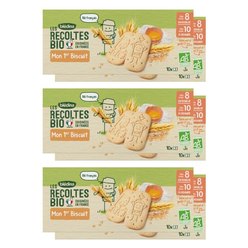 Lot x12 Les récoltes Bio Mon 1er Biscuit Nature dès 8/10 mois