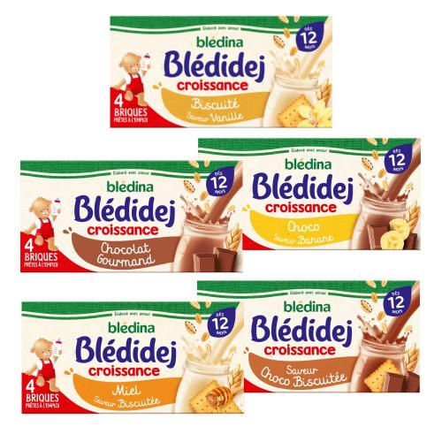 Pack Blédidej Croissance Biscuité saveur Vanille dès 12 mois
