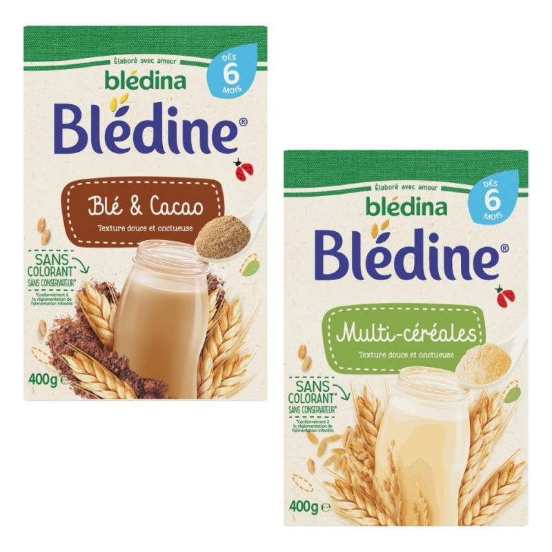 Lot x4 - Blédine Blé et Cacao - dès 6 mois
