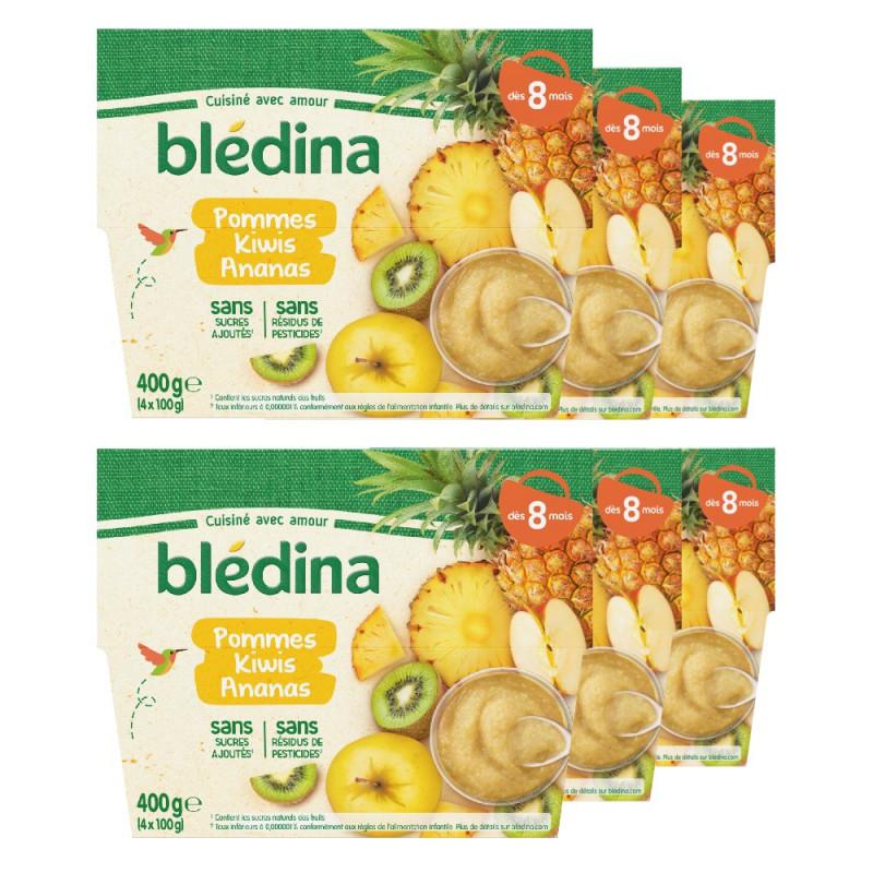 Pack Coupelles Fruits Pommes Kiwis Ananas