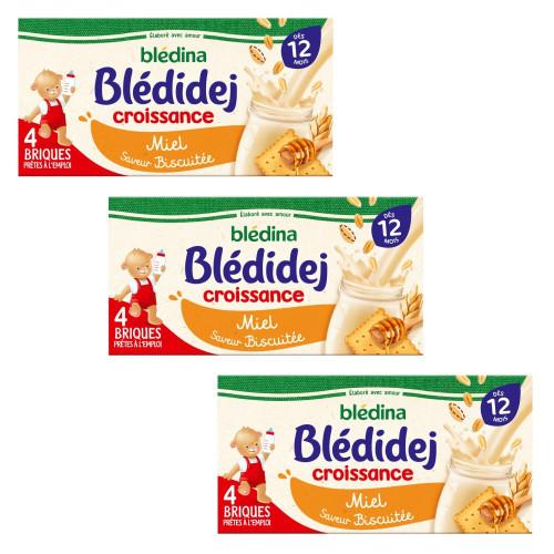 Pack Blédidej Croissance Biscuité Miel dès 12 mois
