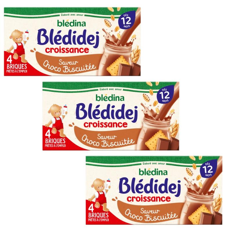 Pack Blédidej Croissance Choco Biscuitédès 12 mois