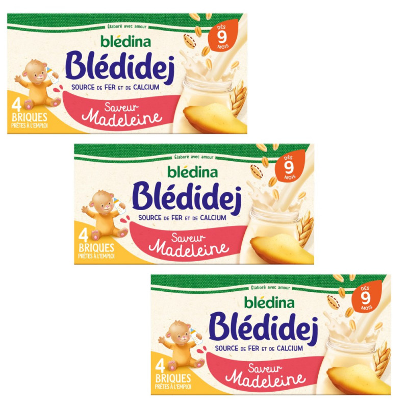 Pack Blédidej Saveur Madeleine dès 9 mois