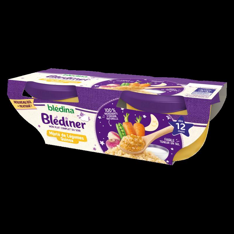 Blédîner - Mijoté de légumes et Quinoa - 2x200g
