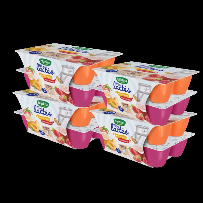 Pack Mini lactés Croissance Fruit rouges / Fruits du soleil