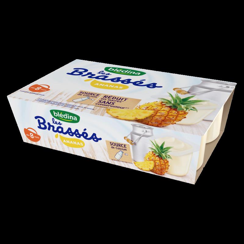 Les Brassés Ananas - 6x95g