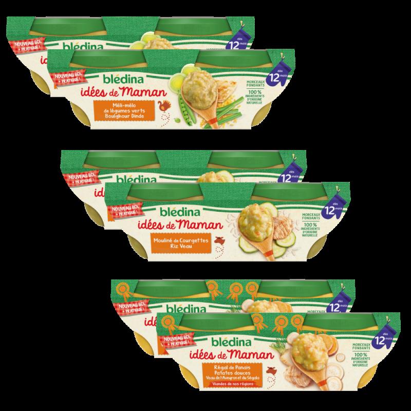 Lot x4 - Idées de Maman Epinard carottes boeuf et Potiron patate douce - Dès 6 mois