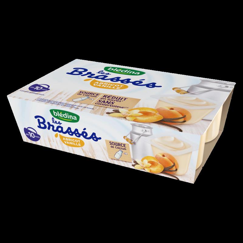 Les Brassés Abricot Vanille - 6x95g