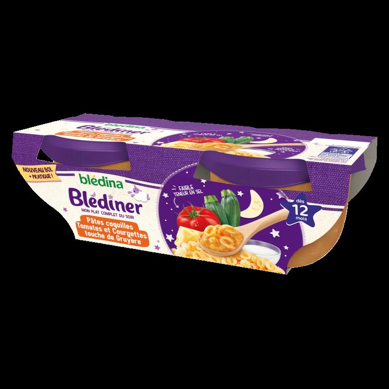 Blédîner - Pâtes coquilles Tomates Courgettes - 2x200g