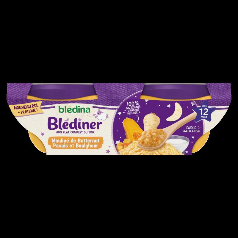 Blédîner - Mouliné de Butternut Panais et Boulghour - 2x200g