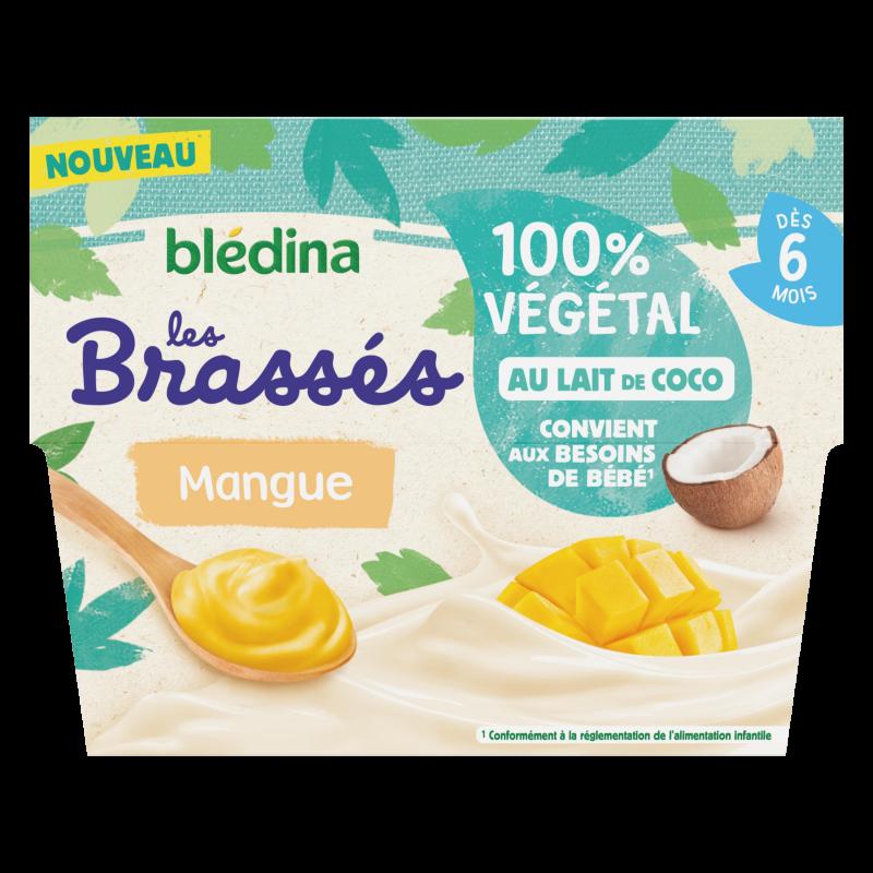Les brassés 100% Végétal au Lait de Coco et Mangue 4x95g - Dès 6 mois