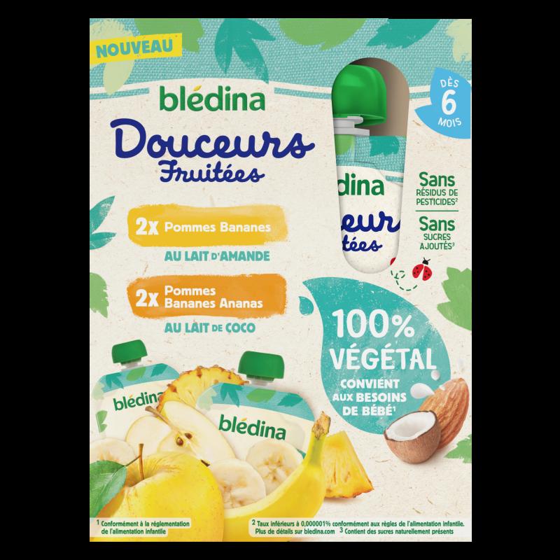Gourdes Douceurs Fruitées - 100% Végétal - 4x90g - Dès 6 mois