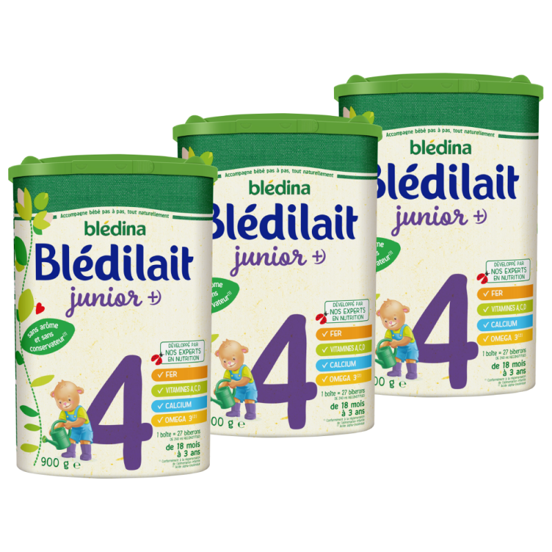 Lot x3 - Blédilait Junior dès 18 mois - 900g