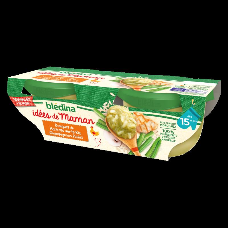 Idées de Maman Haricots verts Riz Champignons Poulet